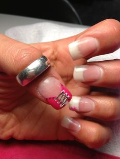 Acrylic nails French with corset
