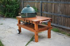 Red Cedar Table for an XL Big Green Egg.