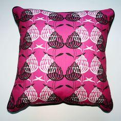 Cushion Telopea Magenta - Katz Designer Textiles