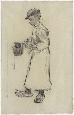Anthon Gerhard Alexander van Rappard | Fabrieksjongen aan het werk, Anthon Gerhard Alexander van Rappard, 1868 - 1892 |