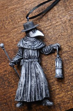 Plague Doctor Ornament by Dellamorteco on Etsy-I want everything in this shop..Everything.