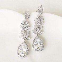 Gold Bridal Earrings, Bride Earrings, Wedding Earrings Drop, Art Deco Earrings, Crystal Earrings, Bridal Jewelry, Drop Earrings, Bridal Shoes, Vintage Wedding Jewelry