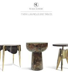 Luxurious Side Tables by Scala Luxury