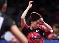 世界卓球団体選手権東京大会(2014 World Team Table Tennis Championships)最終日、女子決勝に出場した石川佳純(Kasumi Ishikawa、2014年5月5日撮影)。(c)AFP/Toshifumi KITAMURA ▼6May2014AFP|日本女子、世界卓球団体で銀メダル http://www.afpbb.com/articles/-/3014202 #Kasumi_Ishikawa #team_Japan #2014_World_Table_Tennis_Championships
