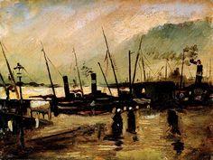 Vincent Van Gogh - Post Impressionism - Anvers - Port - 1885