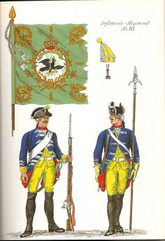 Prussia; Infantry Regiment Nr.10, c.1750