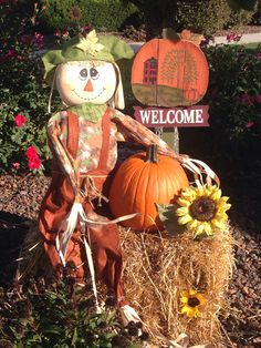 Fall outdoor decoration