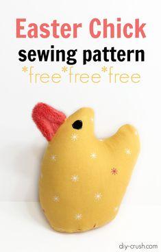 Free Easter Chick Sewing Pattern | DIY Crush