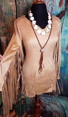 Gorgeous COWGIRL Faux SUEDE DRESS TUNIC MINI BODYCON FRINGE BOHO GYPSY SMALL  #E2 #TunicBODYCON Cowgirl Skirt, Cowgirl Look, Cowgirl Dresses, Gypsy Cowgirl, Cowgirl Outfits, Boho Gypsy, Romper With Skirt, Skirt Belt, Fringe Skirt