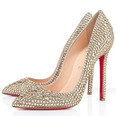 Christian Louboutin Outlet Pigalle 120mm Strass Gold - $135.00 : Christian Louboutin Outlet