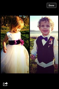 Cute flower girl / page boy outfits