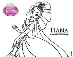 Dibujo de Tiana y el sapo  Naveen y Tiana para colorear  Dibujos