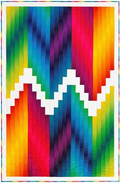 """Chroma Modern"" quilt pattern designed by Lunn Studios. Uses Kona Cotton and Harlequin. FREE pattern."