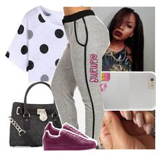 """""""goodnight"""" by lamamig ❤ liked on Polyvore featuring moda, WithChic, MICHAEL Michael Kors, adidas, women's clothing, women's fashion, women, female, woman y misses"""