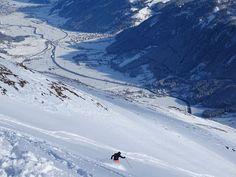 Fresh snow at the Wildspitze. Wildkogel Arena, Austria.