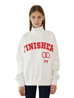 W CONCEPT: W Concept - [CHANCECHANCE: Chance Chance] FINISHER Pola (brushed) Apparel Design, Graphic Sweatshirt, T Shirt, Preppy, Shirt Designs, Sweatpants, Baseball, Sweatshirts, Tees
