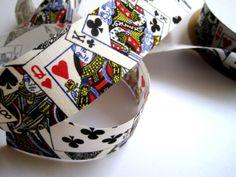 Poker Cotton Ribbon Trim Playing Cards by PrimroseLaceRibbon, $3.00