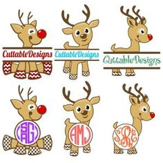 Chrismas Baby Reindeer with Split and Round Circle Frame Monogram Cuttable Design Cut File. Cricut Monogram, Monogram Frame, Monogram Shirts, Christmas Vinyl, Christmas Shirts, Christmas Baby, Christmas Crafts, Xmas, Christmas Ornaments