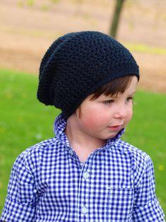 Boy Slouchy Beanie Ready To Ship Crochet Slouchy by CrochetbyYJ, $20.00