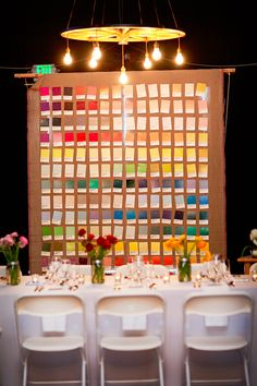 Pantone backdrop, photo by AK Studio & Design http://ruffledblog.com/zion-national-park-wedding #weddingreception #backdrops