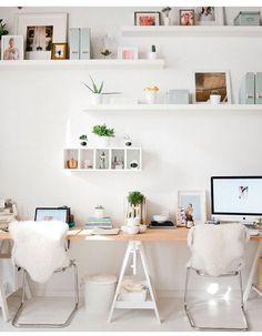 21 Ikea Desk Hacks For a Stylish Home Office - Hacksaholic Home Office Space, Home Office Design, Home Office Decor, House Design, Desk Space, Desk Office, Workspace Design, Office Furniture, Furniture Design