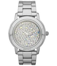 Large view of Dkny Women's Glitz NY8474 Silver Stainless-Steel Quartz Watch with Silver Dial