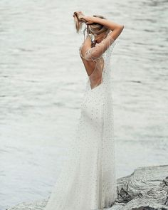 Modest wedding dresses will make you the most charming bride.The modesty in the gowns brings such a high level of sophistication and grace! Modest Wedding Dresses, Designer Wedding Dresses, Bridal Dresses, Wedding Gowns, Boho Wedding, Wedding Reception, Dress Vestidos, The Dress, Perfect Wedding