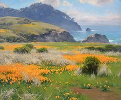 Spring Bloom Pt Lobos by Jesse Powell Oil ~ 30 x 36