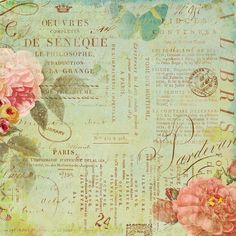 K and Company - Brenda Walton Collection - 12 x 12 Paper with Shimmer Accents - Scribe - Text at Scrapbook.com $1.69