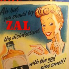 June 8th 1950, advert for Zal pine fluid