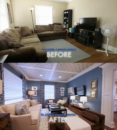 designer Elaine's re-designed Home Living Room, Living Room Decor, Bedroom Decor, Interior Design Living Room, Living Room Designs, Home Upgrades, Home Remodeling, Designer, House Design