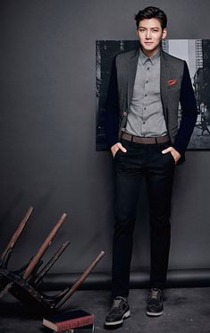 Ji Chang Wook gives Jung Woo Sung a run for his money because dressed in ADHOC's new F/W collection, the Empress Ki star is just as debonair as his veteran counterpart ; Ji Chang Wook Smile, Ji Chang Wook Healer, Ji Chan Wook, Korean Star, Korean Men, Asian Men, Asian Actors, Korean Actors, Korean Dramas