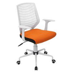 Lumisource Network Office Chair in white/orange