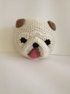 Crochet English Bulldog от peanutbutterdynamite на Etsy