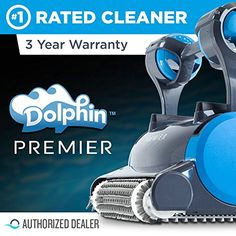 Dolphin Premier Robotic Pool Cleaner with Powerful Dual Scrubbing Brushes and Multiple Filter Options, Ideal for In-ground Swimming Pools up to 50 Feet. Best Above Ground Pool, In Ground Pools, Swimming Pool Cleaners, Swimming Pools, Intex Pool Pump, Best Robotic Pool Cleaner, Best Pool Vacuum, Pool Shapes, Wind Spinners