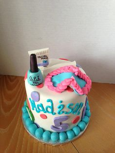 Spa party cake for Sarahs 10th Cake Pinterest Spa