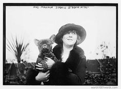 Photo Prompts #001: A dog. A woman. Photo Credit: Library of Congress, LC-DIG-ggbain-10973