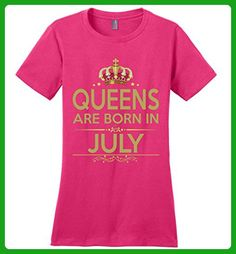 Birthday Gift Queens Are Born in July Ladies T-shirt - Birthday shirts (*Amazon Partner-Link)