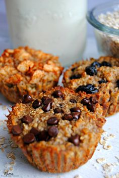 Baked oatmeal cups are a super easy, make ahead and freezable healthy gluten-free breakfast. A tasty and healthy grab and go breakfast to start your day.