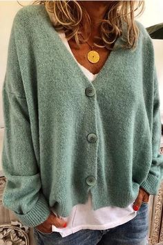Casual-Solid-Long-Sleeves-Buttons-Sweater – immorgo