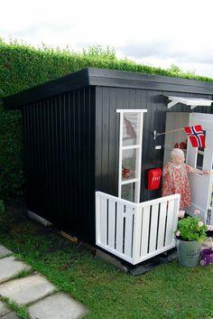 Kinderspiel-Gartenhaus in schwarz