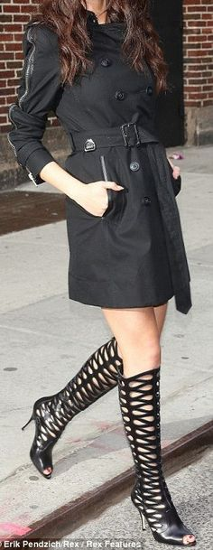 gladiator boots and trench
