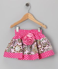 Love this Pink Polka Dot Paisley Skirt - Toddler & Girls by Lele Vintage on #zulily! #zulilyfinds