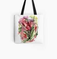 Designs, Tote Bag, Shop, Bags, Cinch Bag, Tulips, Handbags, Totes, Bag