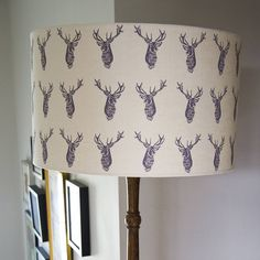 stags handmade lampshade by weft bespoke design | notonthehighstreet.com
