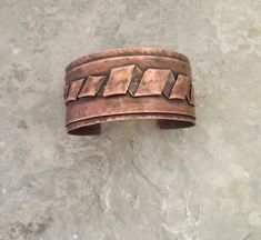 Rustic copper cuff, folded metal, textured boho bracelet by MetalingSusie on Etsy Copper Cuff, Copper Bracelet, Metal Bracelets, Copper Jewelry, Cuff Bracelets, Copper Metal, Bangles, Copper Work, Copper Crafts
