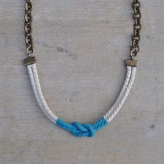 Necklace sailor knot white and blue  MALIBU by AMEjewels on Etsy, €25.00