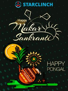 One India, many festivals. Happy Makar Sankranti , Happy Pongal and Bhogali Bihu to all. StarClinch - Marketplace of Professional Artists. Happy Makar Sankranti Images, Happy Sankranti, Happy Pongal Wishes, Pongal Images, Morning Prayer Quotes, Blackboard Art, Startup News, Wedding Album Design, Girly Pictures