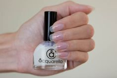 Acquarella conditioner is like a super strong clear nail polish. I moisturizes your nails to help them get healthy.