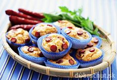 Pikantné syrové muffiny s klobáskou